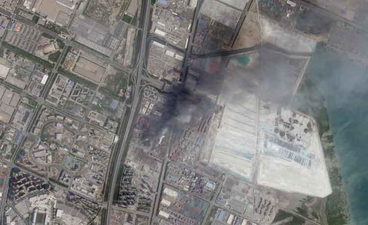 New Satellites Record Tianjin Explosion