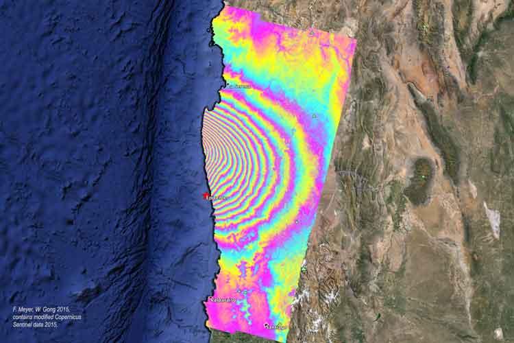 Interferograms Capture Earthquake Movement