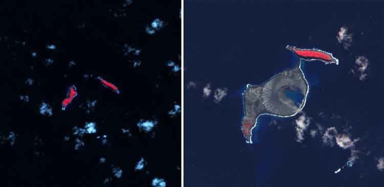 Volcanic Eruption Creates New Island