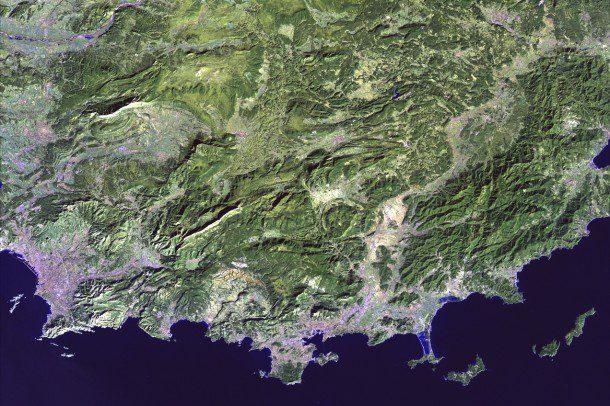 Earth Imaging Journal, EIJournal.com, Satellite Imaging, Satellite Imagery, Coast of France
