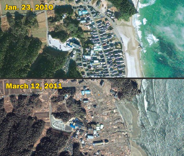 Imagery In The News Satellite Images Reveal EarthquakeTsunami - Whole world satellite map