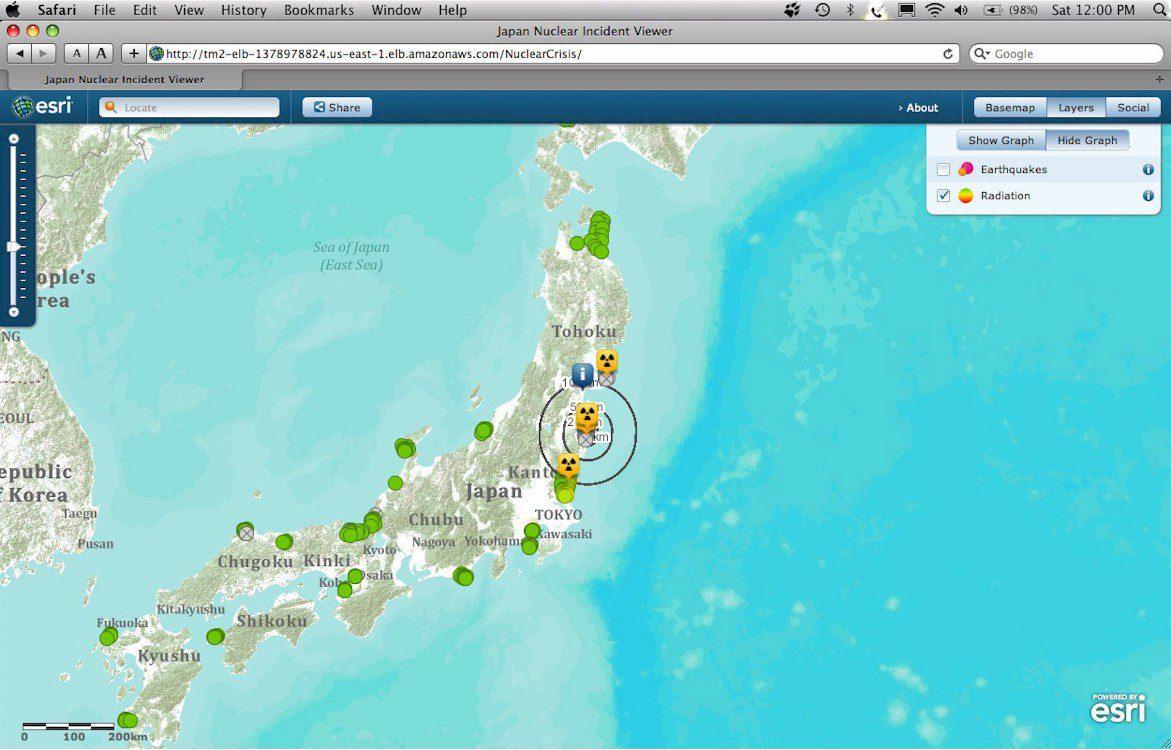 Disaster Response In JAPAN Earth Imaging Journal Remote Sensing - Us to japan map