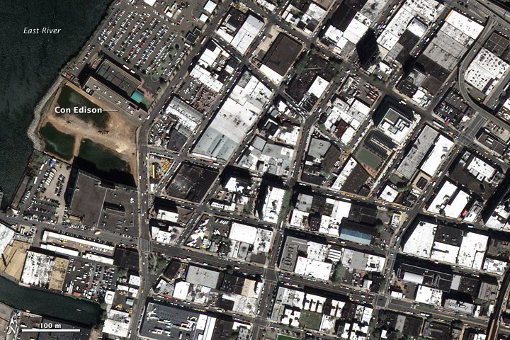 Bright Rooftops Offer Big Relief For Urban Heat Islands Earth - Worldview 2 satellite