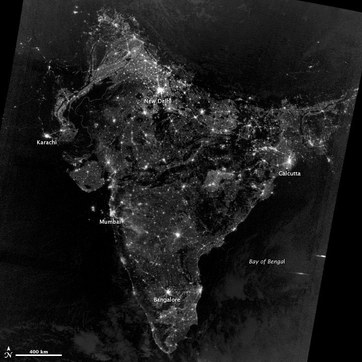 Dont Be FooledThe Real India At Night Earth Imaging Journal - Real time satellite view