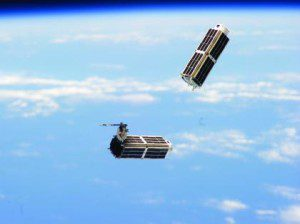 Two Planet Labs EO cubesats are jettisoned from the ISS's Kibo module.