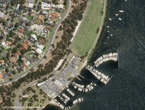 This sub-meter image of Beaton Park in Perth, Australia,  is one of the first images collected by SkyBox's SkySat-1.