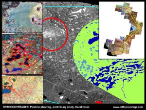 Satellite images are being used to study pipeline routing in Kazakhstan, a country that recently launched its first EO satellite