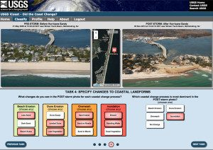 iCoast allows citizen scientists to identify changes to the coast by comparing aerial photographs  taken before and after storms.