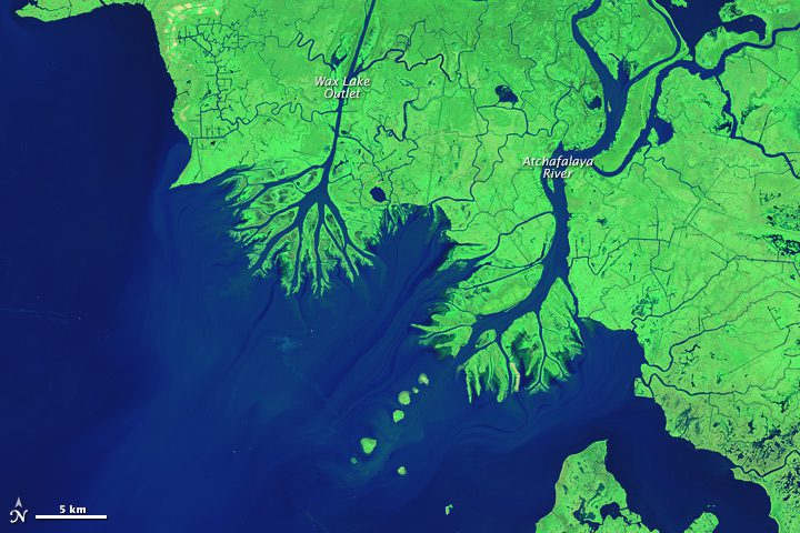 New Land Forms On The Louisiana Coast Earth Imaging Journal - World satellite map 2014