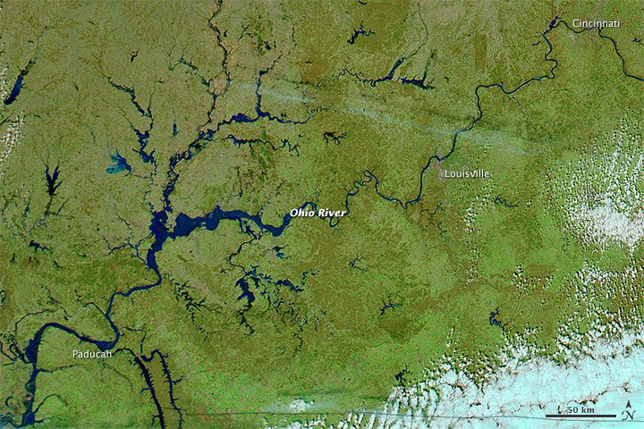 Ohio River Flooding Revealed And Compared Earth Imaging Journal - World satellite map 2014