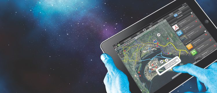 BAE's GXP Xplorer Mobile lets users access multiple geospatial data stores—maps, satellite and airborne images, videos and more—on a handheld device.