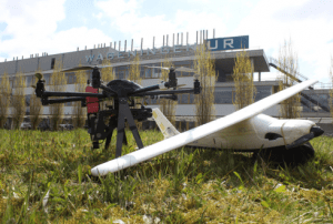 Wageningen's Unmanned Aerial Remote Sensing Facility uses a fixed-wing aircraft (capable of covering 500 hectares per day) and an octocopter (capable of covering 30 hectares a day).