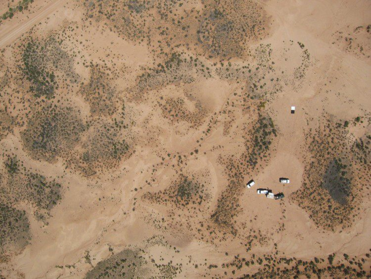 A sample of the rangeland captured in the UAS survey of the Jornado Experimental Range.