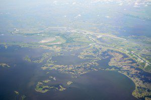 A natural sedimentation process is helping Louisiana's Wax Lake Delta grow in size. This area was a focus for recent imaging by three instruments tasked with documenting change.