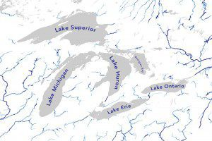 The widest river measured in the Great Lakes Region is almost 22,000 feet on the St. Lawrence River downstream of Lake Ontario. (Credit: George Allen, NARWidth)