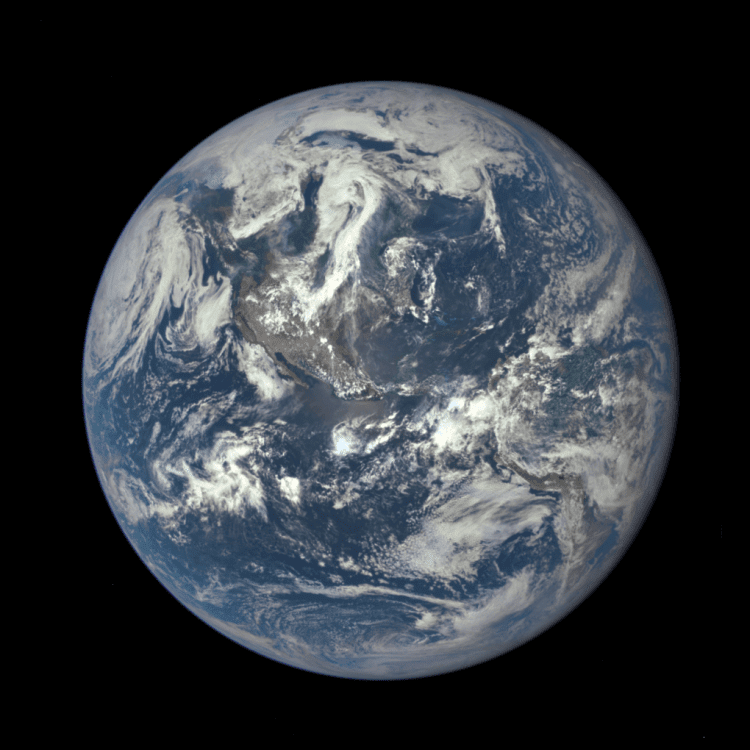"This ""Blue Marble"" image is the first fully illuminated snapshot of Earth captured by the DSCOVR satellite, which will capture and transmit full images of Earth every few hours."