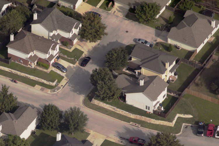 This image of a neighborhood in Austin, Texas, was captured at one-inch resolution by Pictometry and is about 4MB in size. However, the image's raw size, in storage, is approximately 56MB. Multiple views of individual parcels quickly add up and put high storage demands on organizations, making cloud-based access to imagery an ideal solution.