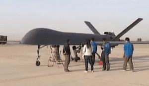 The Rainbow 5 is the latest in a series of UAVs developed by China Aerospace Science and Technology Corp. (Credit: CNTV)