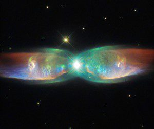 This new image of the Twin Jet Nebula was captured using the NASA/ESA Hubble Space Telescope and its Space Telescope Imaging Spectrograph.