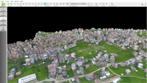 Students at Kathmandu University learned how to make 3D models from drone imagery to support disaster response and humanitarian efforts. (Credit: Pix4D)
