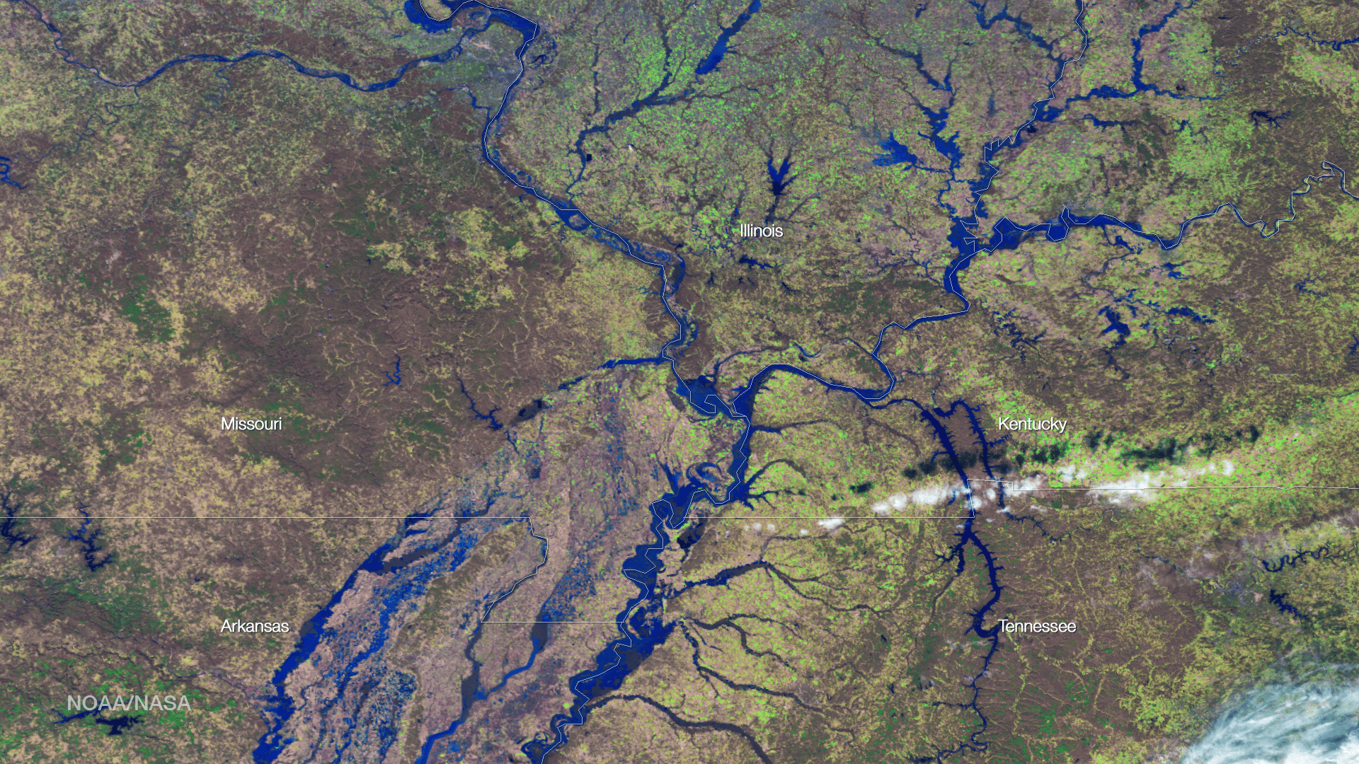 Flooding Continues Along Mississippi River Earth Imaging Journal - Noaa world satellite map