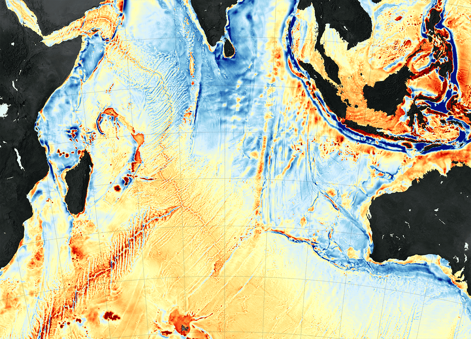 New Map Uses Gravity To Model Ocean Floor Earth Imaging Journal - World satellite map 2014