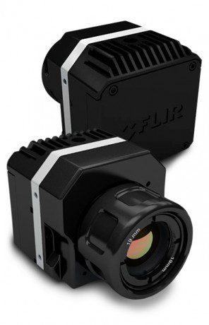 The FLIR Vue camera weighs four ounces or less and captures thermal imagery in spectral bands from 7.5-13.5 micrometers.