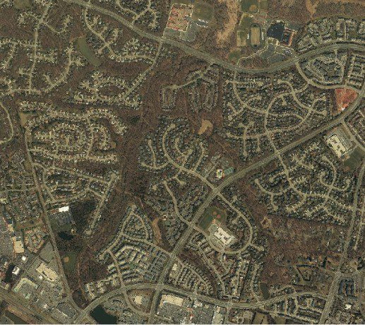 Three images of the same location show the growth of Loudoun County from 1978, 2000 and 2015, respectively.