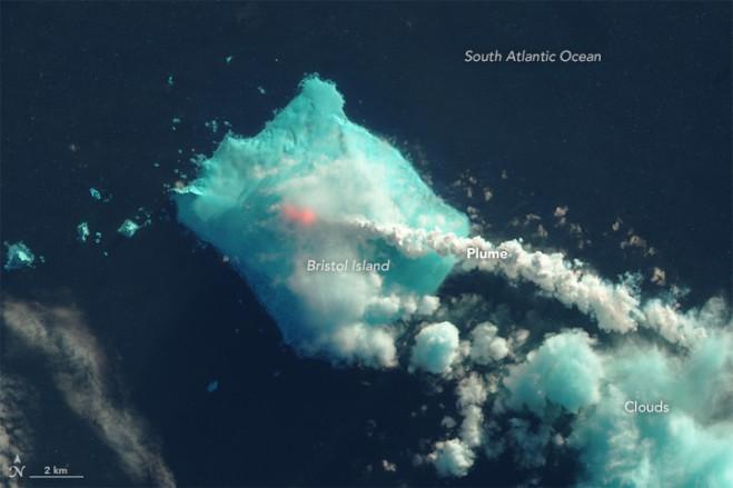 Satellites Detect Rare And Remote Volcanic Island Eruption