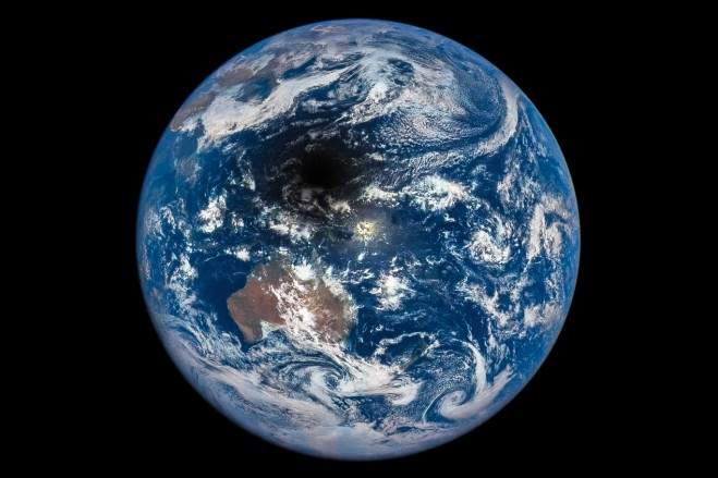 Solar Eclipse Casts Moon Shadow on Earth « Earth Imaging