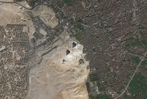 A 50-centimeter-resolution Pleiades satellite captured this image of Cairo, Egypt, and the famed pyramids of Giza. (Credit: CNES Distribution Airbus Defence and Space/Spot Image)