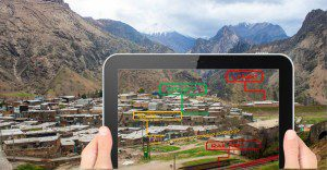 With cloud-based augmented reality data, applications can superimpose spatially relevant information on a user's view of the real world using common devices.