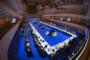 At an ESA council meeting in Lucerne, Switzerland, ministers in charge of space activities met to decide on future space activities for Europe. (Credit: ESA–Stephane Corvaja, 2016)
